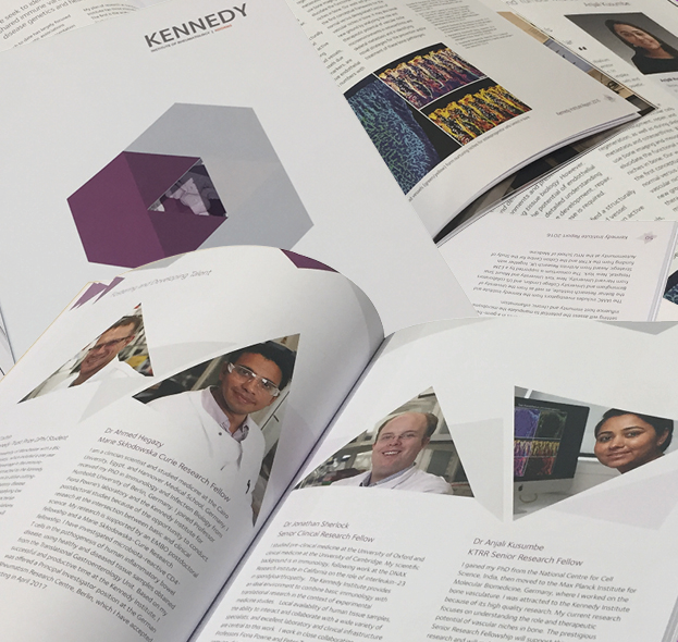 Kennedy Institute of Rheumatology<p>Design, photography and print of 2016 Report